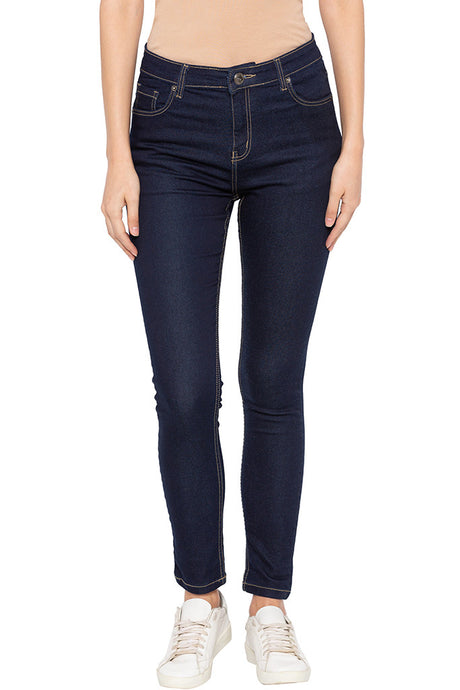 Raw Skinny Fit High-rise Denims-1