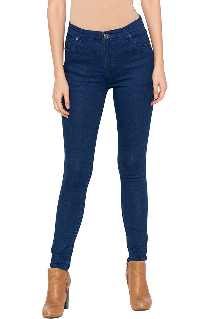 Stone Skinny Fit High-rise Denims-1