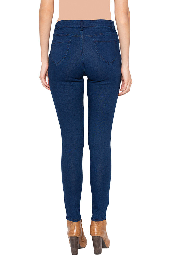 Stone Skinny Fit High-rise Denims-3