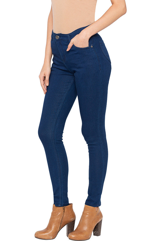 Stone Skinny Fit High-rise Denims-4