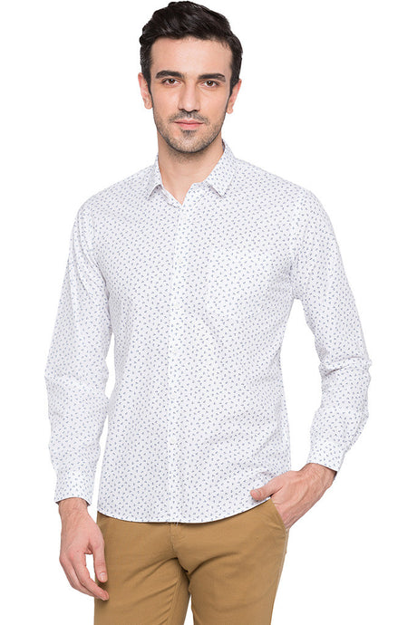 Micro Ditsy Print Slim Fit Shirt-1