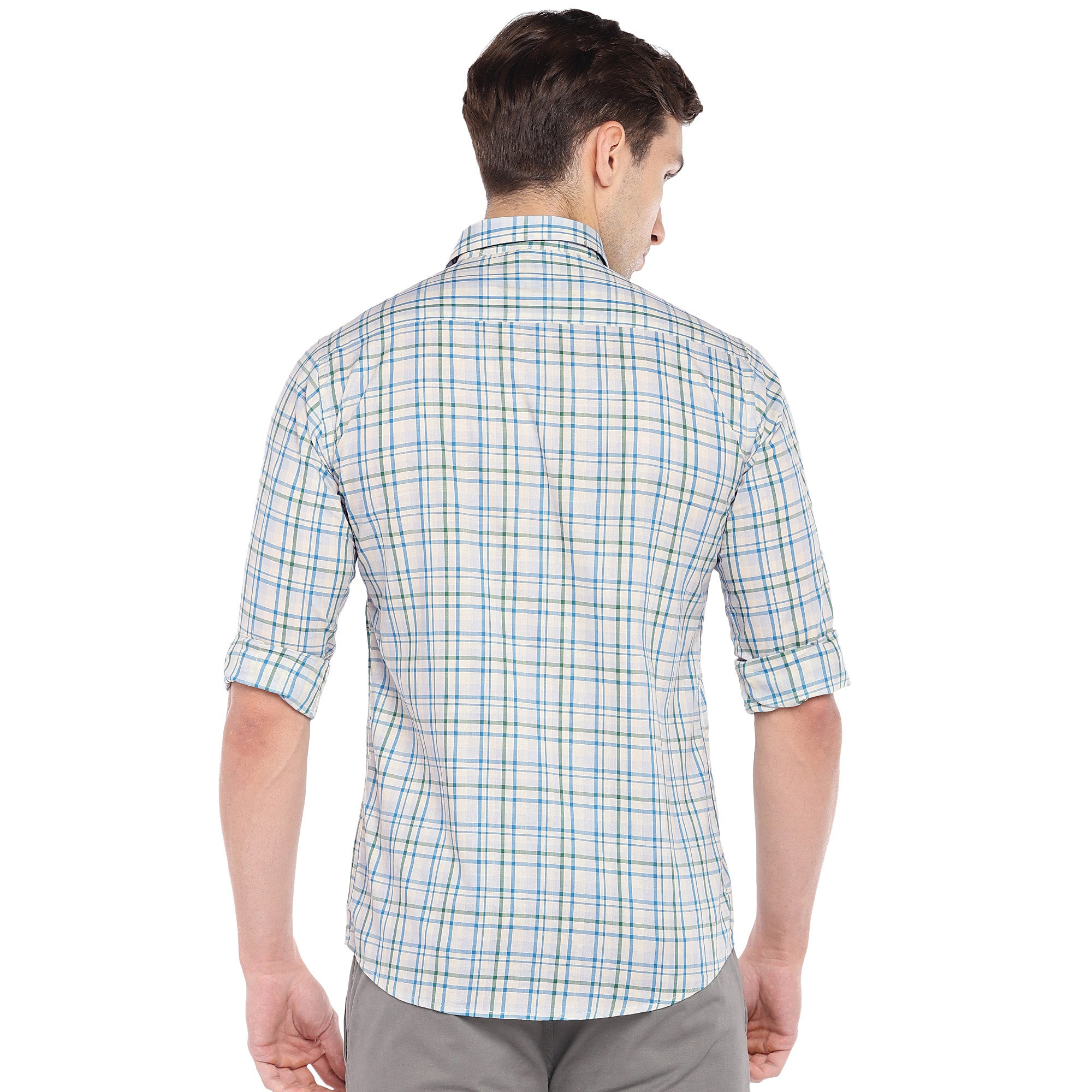 Off-White Regular Fit Checked Casual Shirt-3