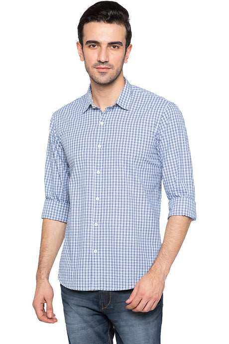 Dobby Check Casual Shirt-1