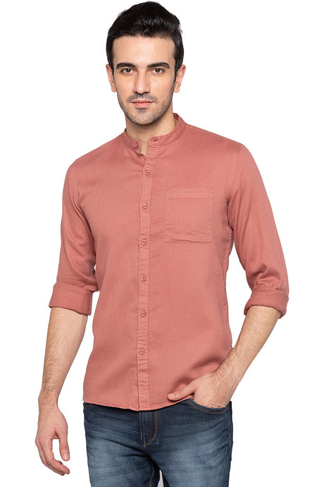 Mandarin Collar Slim Fit Shirt-1