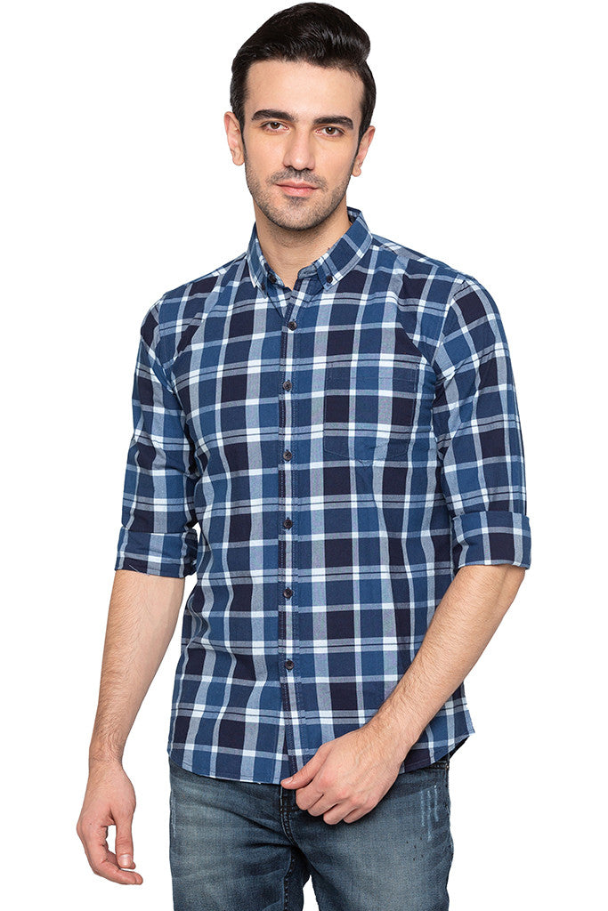 Checked Casual Slim Fit Shirt-1