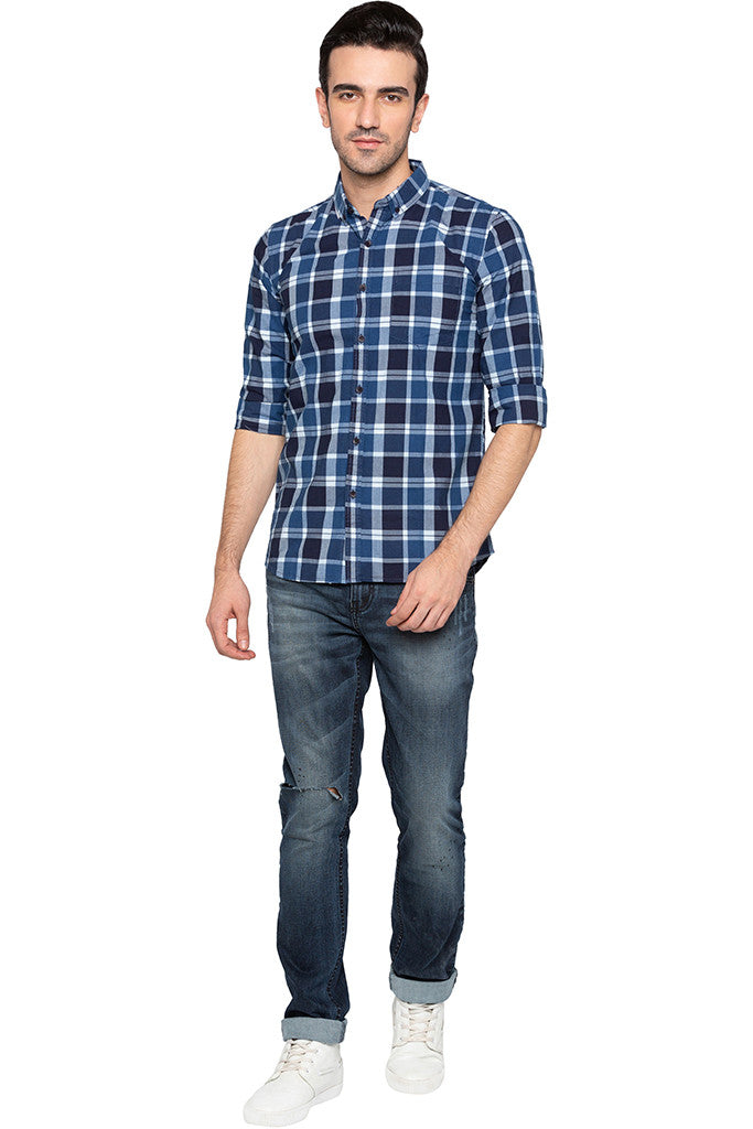 Checked Casual Slim Fit Shirt-2