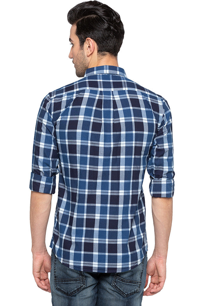 Checked Casual Slim Fit Shirt-3