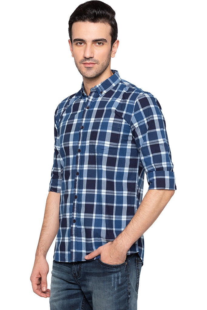 Checked Casual Slim Fit Shirt-4