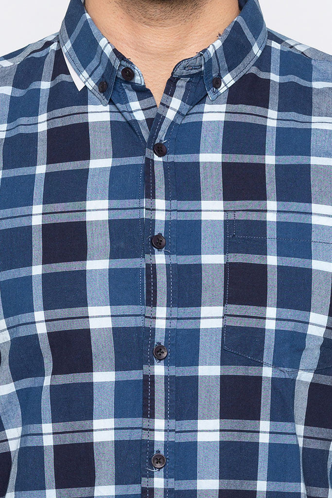Checked Casual Slim Fit Shirt-5