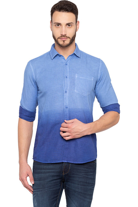 Ombre Effect Blue Shirt-1