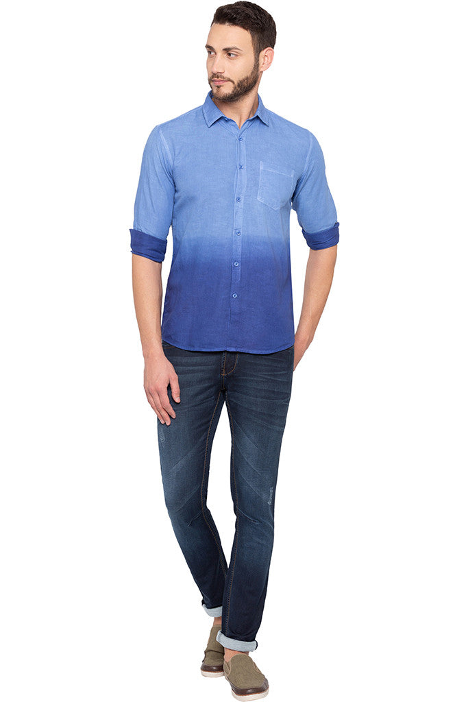 Ombre Effect Blue Shirt-2