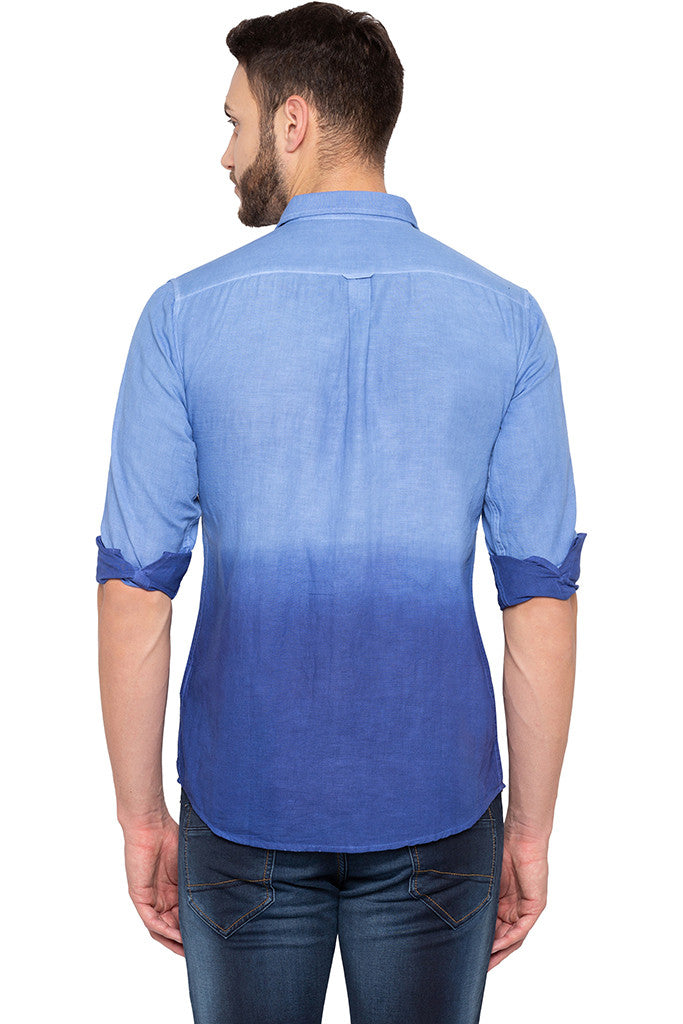 Ombre Effect Blue Shirt-3
