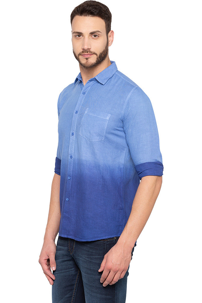 Ombre Effect Blue Shirt-4