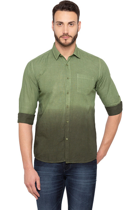 Ombre Effect Olive Shirt-1