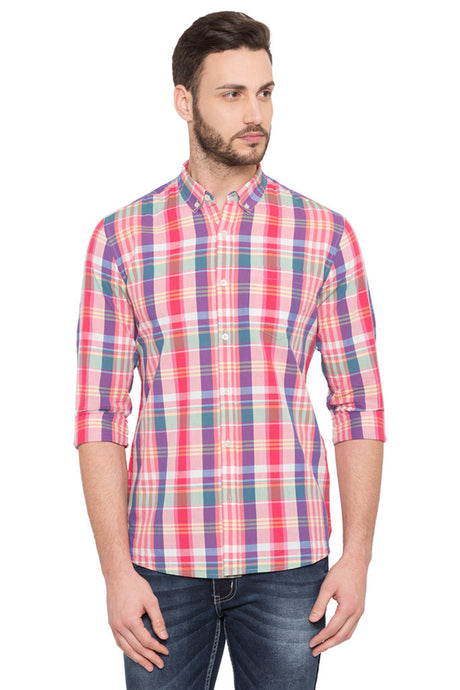 Madras Check Casual Shirt-1