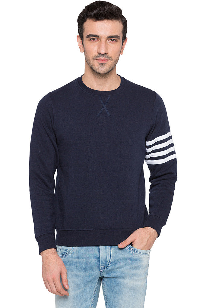 Arm Band Navy Sweatshirt-1