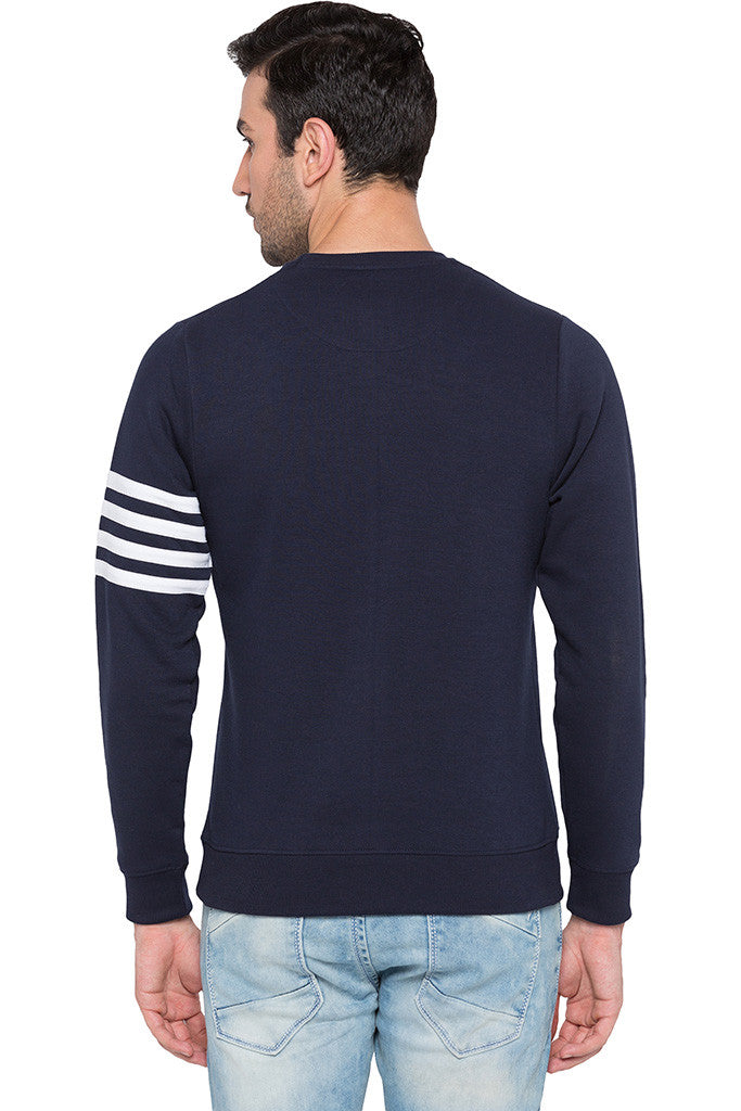 Arm Band Navy Sweatshirt-3