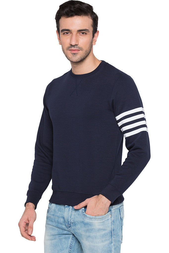 Arm Band Navy Sweatshirt-4