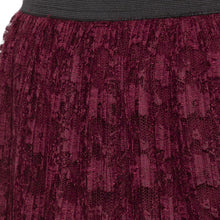 Load image into Gallery viewer, Burgundy Self Design Skirts-5