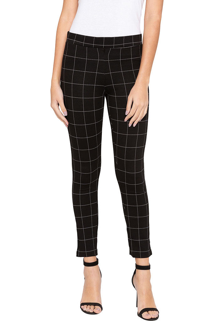 Checked Jeggings-1