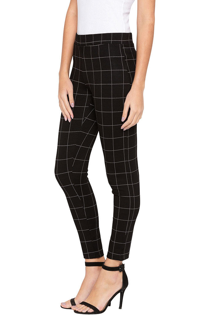 Checked Jeggings-4