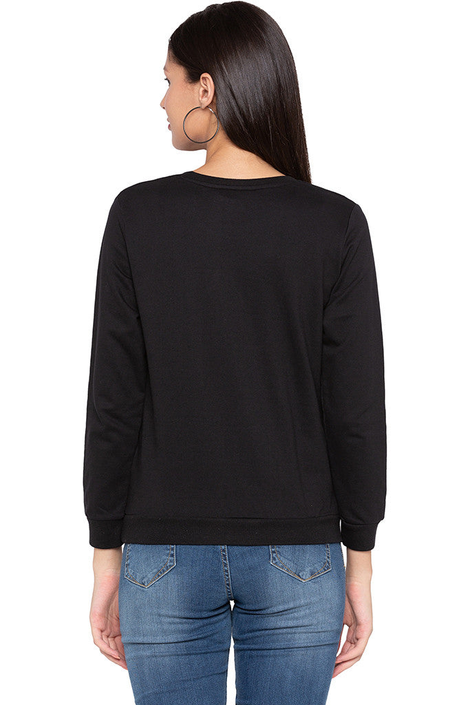 Printed Black Sweatshirt-3