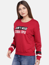 Load image into Gallery viewer, Red & Off-White Printed Sweatshirt-2