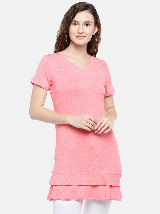 Women Pink Solid Top-1