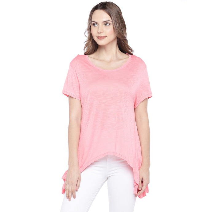 Pink Solid Top-1
