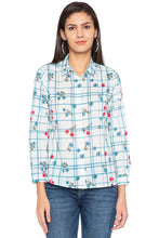 Load image into Gallery viewer, Checked Floral Print Shirt-1