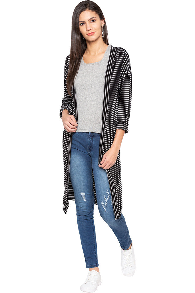 Striped Longline Shrug-2