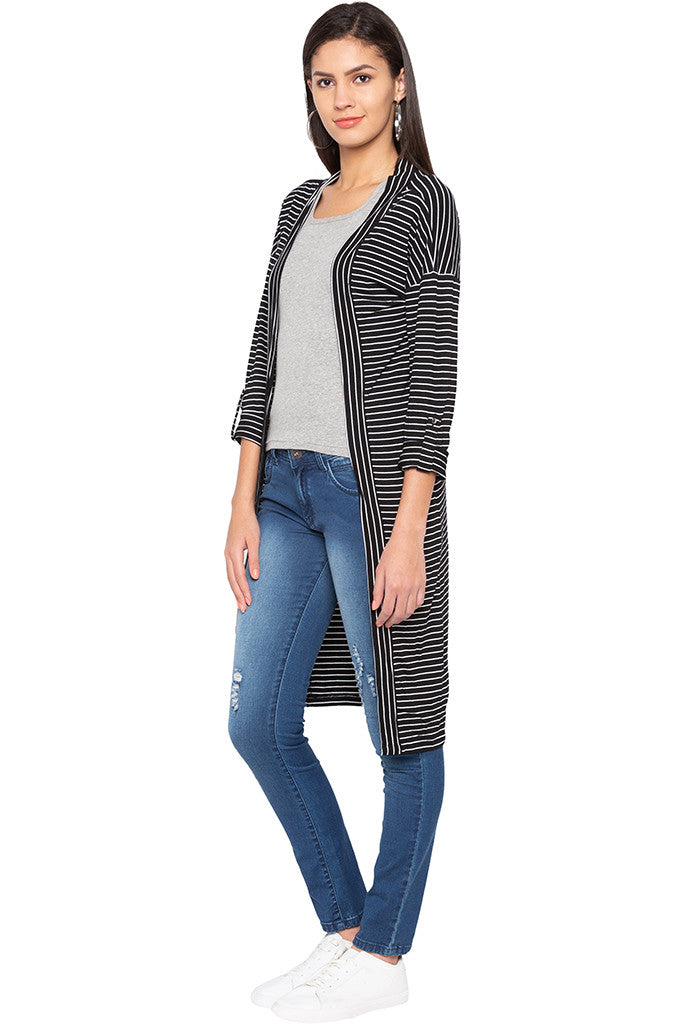 Striped Longline Shrug-4