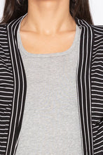 Load image into Gallery viewer, Striped Longline Shrug-5
