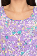 Load image into Gallery viewer, Floral Print Sleeveless Lilac Blouson Top-5