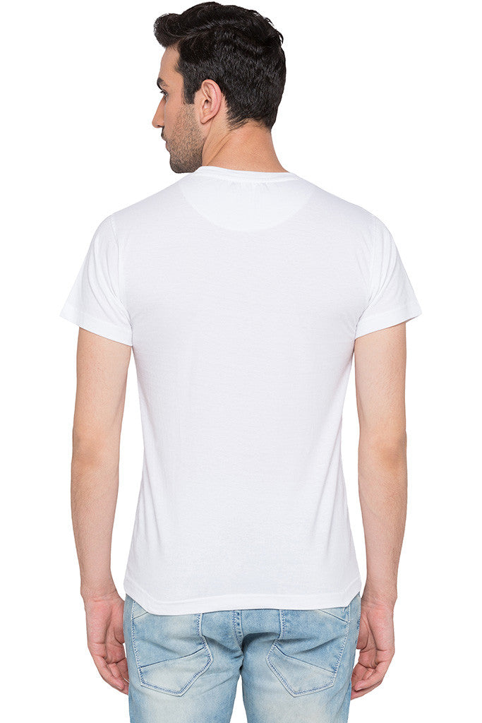 Printed White T-shirt-3
