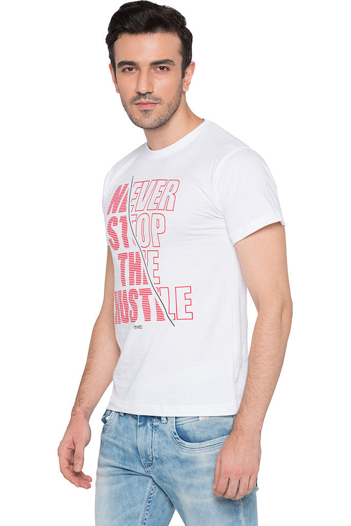 Printed White T-shirt-4