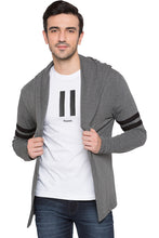 Load image into Gallery viewer, Hooded Charcoal Melange Jacket-1