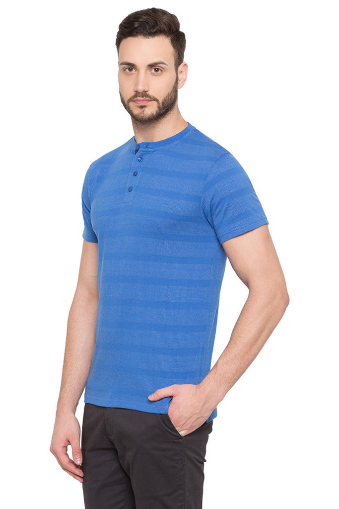 Striped Polo Neck T-shirt-4