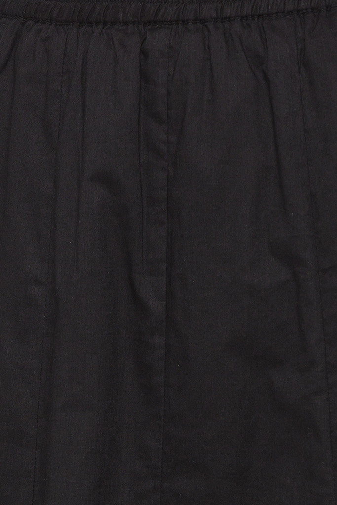 Panelled Long Black Ethnic Skirt-5