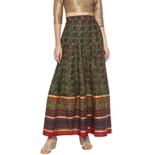 Load image into Gallery viewer, Green Printed Skirts-1