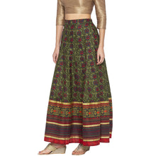 Load image into Gallery viewer, Green Printed Skirts-2