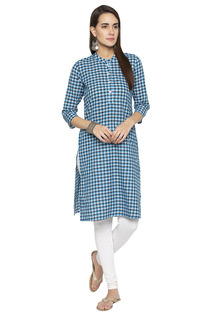 Checked Ethnic Kurta-2