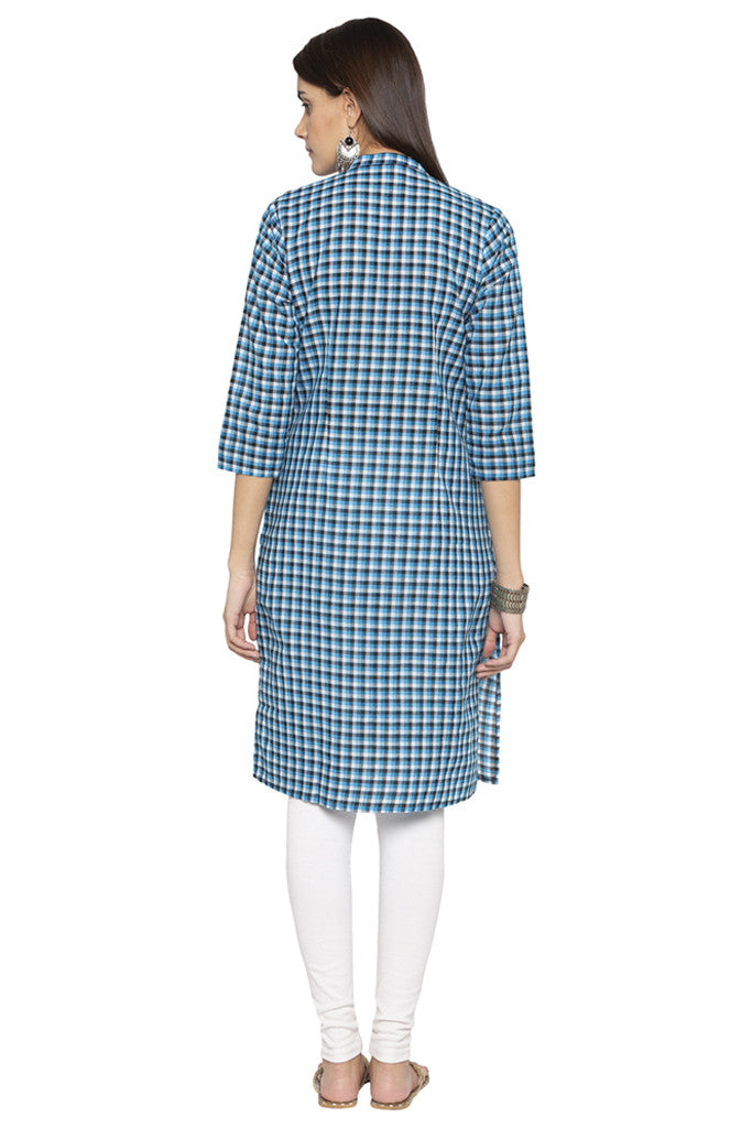 Checked Ethnic Kurta-3