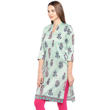 Load image into Gallery viewer, Women Green Printed Straight Kurta-2