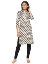 Load image into Gallery viewer, Printed Beige A-Line Kurtas-1