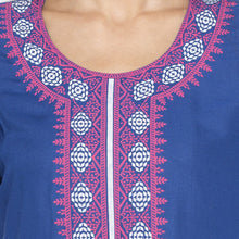 Load image into Gallery viewer, Casual Blue Color Straight Printed Regular Kurtas-4