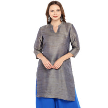Load image into Gallery viewer, Women Grey Solid Straight Kurta-1