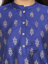 Load image into Gallery viewer, Printed Blue A-Line Kurtas-5