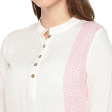 Load image into Gallery viewer, Women Cream-Coloured Printed Straight Kurta-5