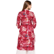 Load image into Gallery viewer, Women Red Printed Straight Kurta-3